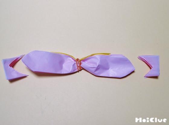 花びらになるように端を切った写真